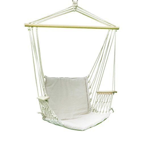 adeco cotton fabric canvas hammock chair tree hanging suspended outdoor summer limited deal   adeco cotton fabric canvas hammock chair      rh   pinterest