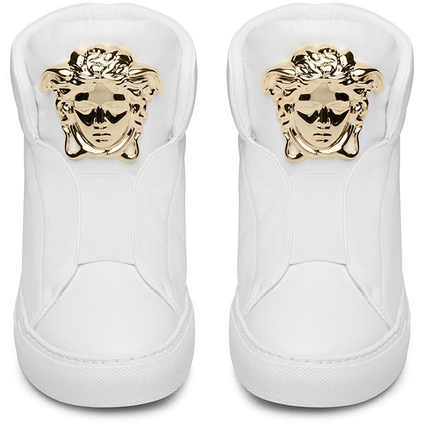 558506febc Versace Womens Palazzo White High Top Sneaker ( 1