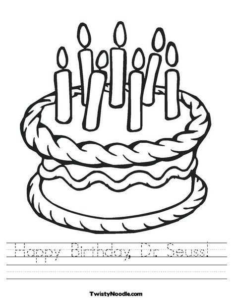 Happy Birthday, Dr Seuss Worksheet from