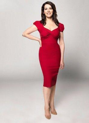 9b0006b0fb Nigella Lawson wears the red Stop Staring Dress 'Billion Dollar' for ABC's  The Taste