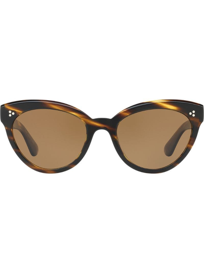 Oliver Peoples Roella cat eye sunglasses – Brown
