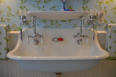 Vintage Trough Sink Vintage Bathroom Sinks Bathroom Farmhouse