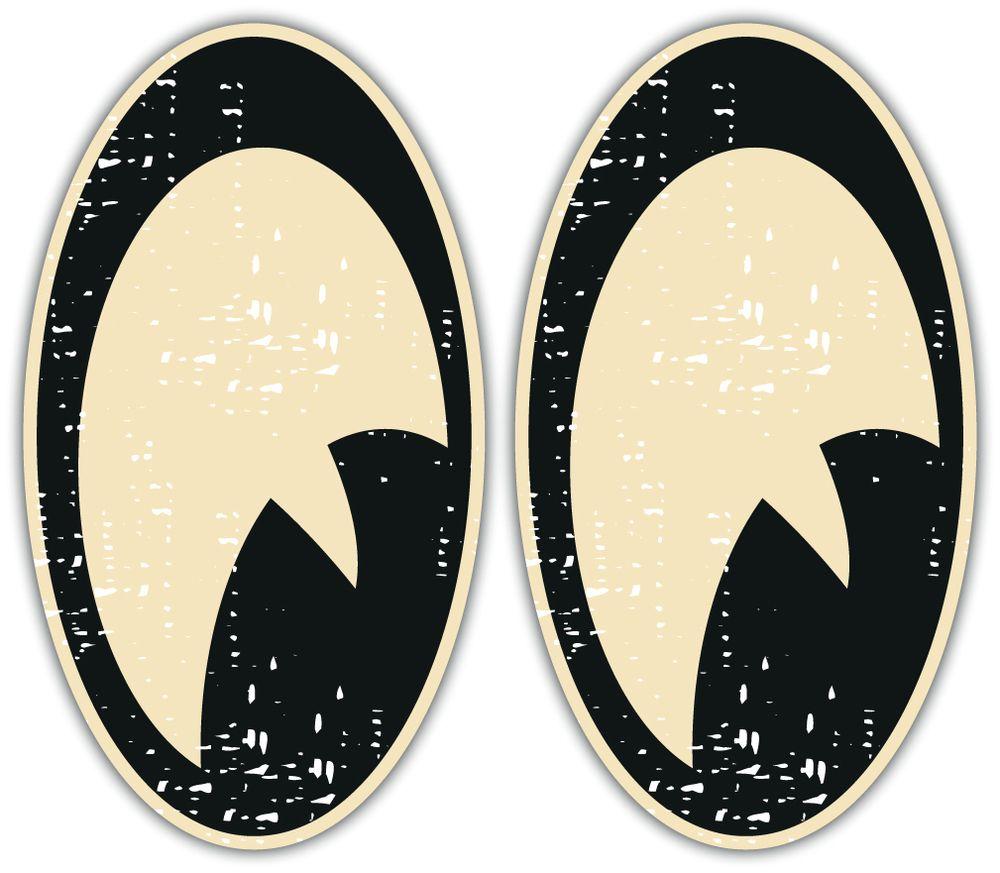 Vintage Eyes Stickers Aged Look Pair 100x56mm Car Motorbike Helmet Hot Rod Cafe Racer Decals 2 89 Hot Rod Tattoo Fantasy Cars Pinstripe Art [ 873 x 1000 Pixel ]