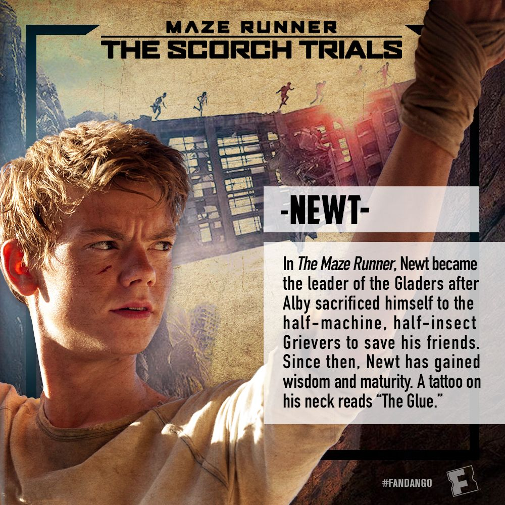The Scorch Trials Character Posters