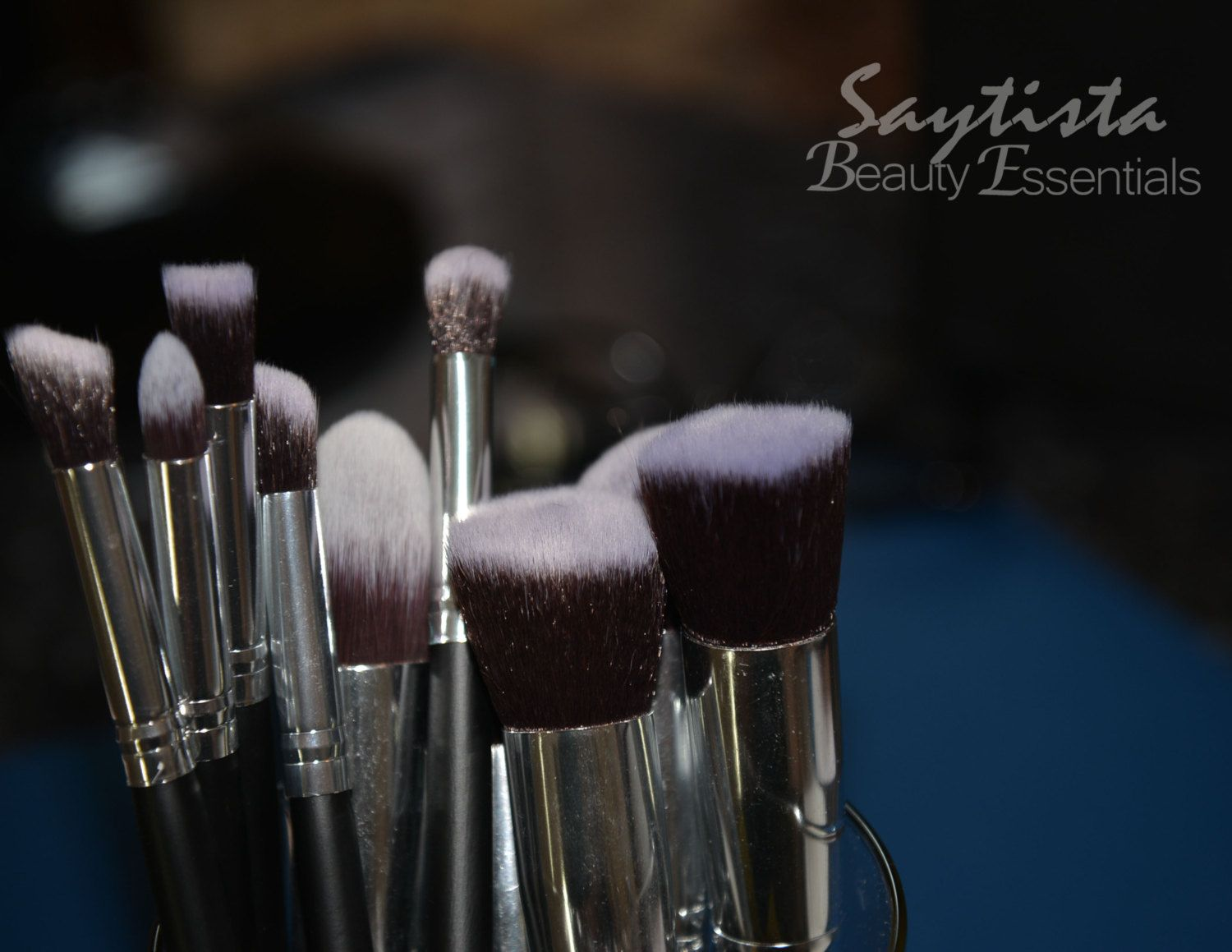 Silver Professional Quality 10 Piece Brushes by SaytistaBeauty on Etsy