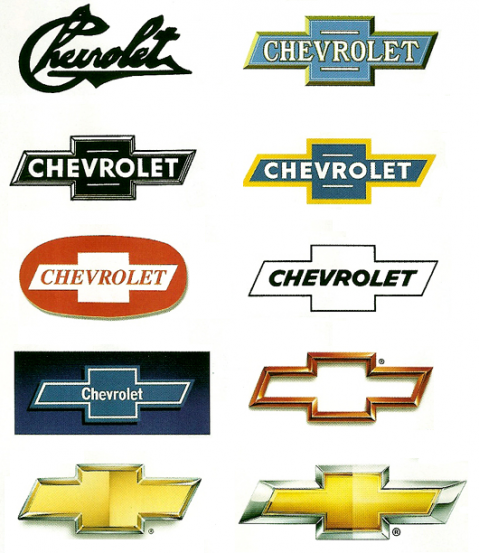 Evolution Of Car Manufacturers Logos Chevrolet Trucks Car