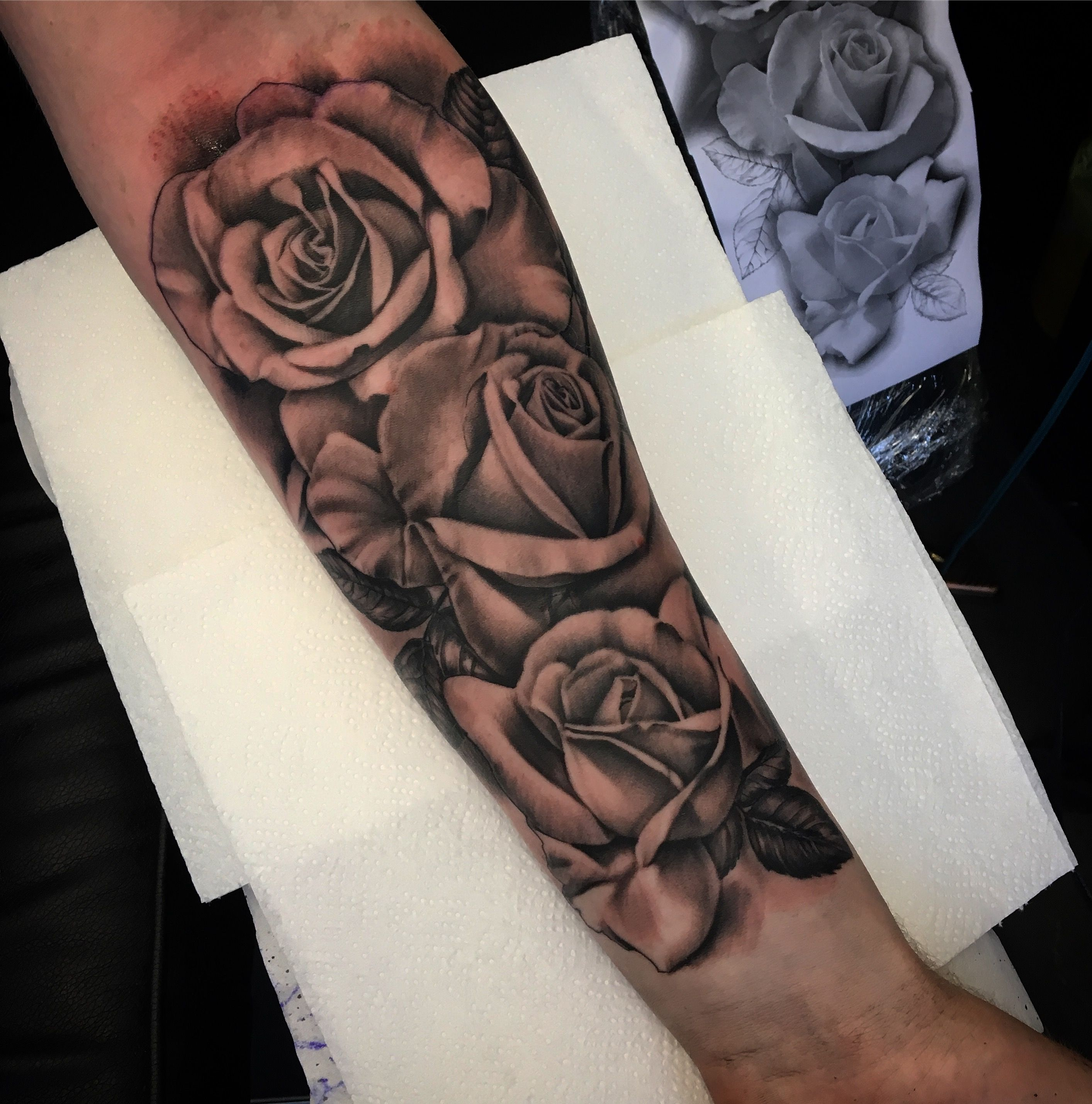 Rose tattoo Rose tattoos for men, Tattoos for guys, Half