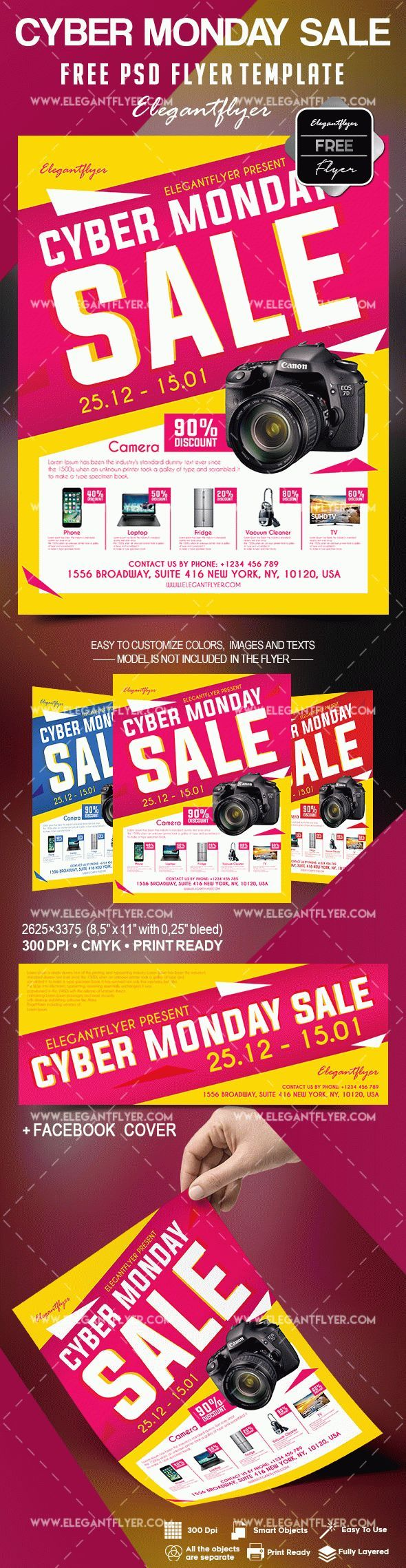 Free Cyber Monday Sale Flyer Template Sale flyer, Flyer