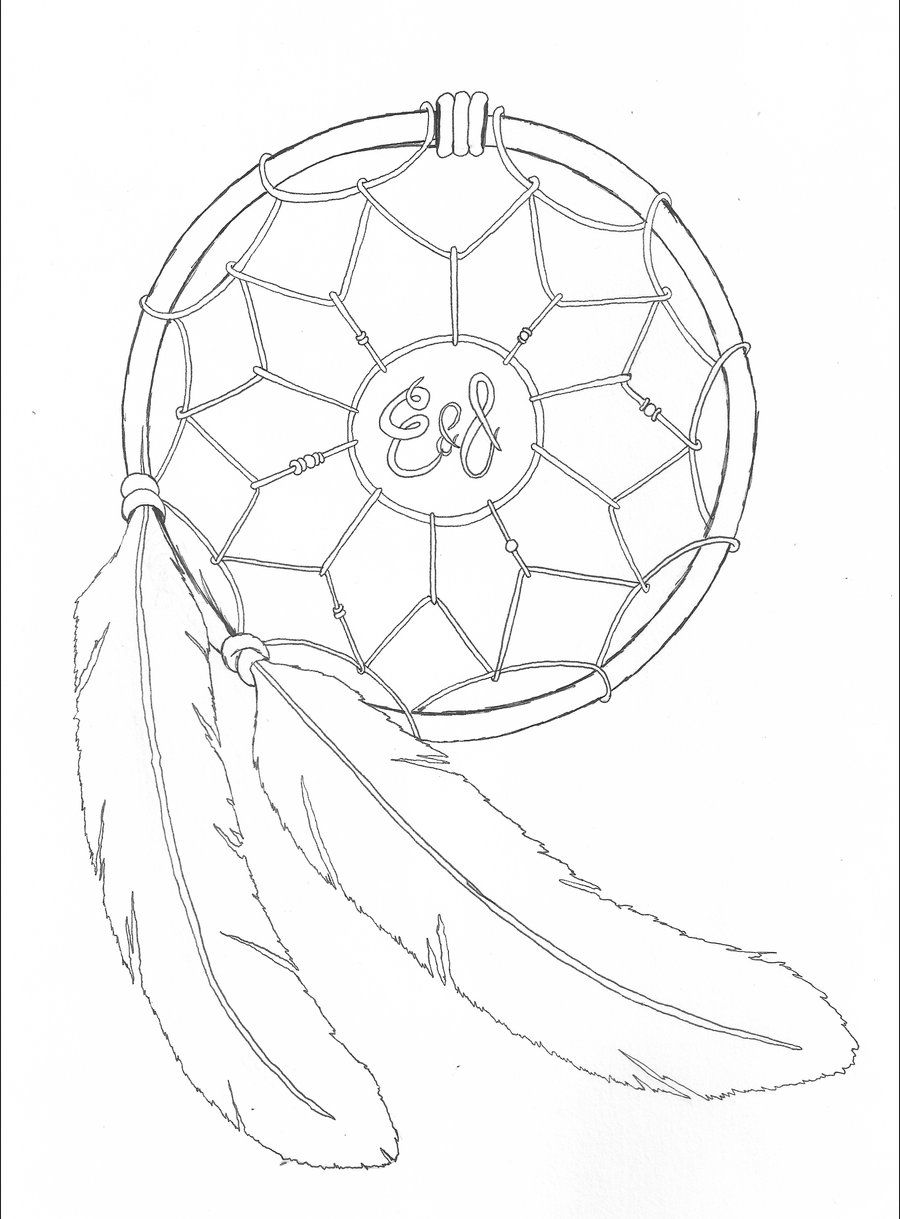 dream catcher tattoo template - native american tattoo designs drawings dreamcatcher by