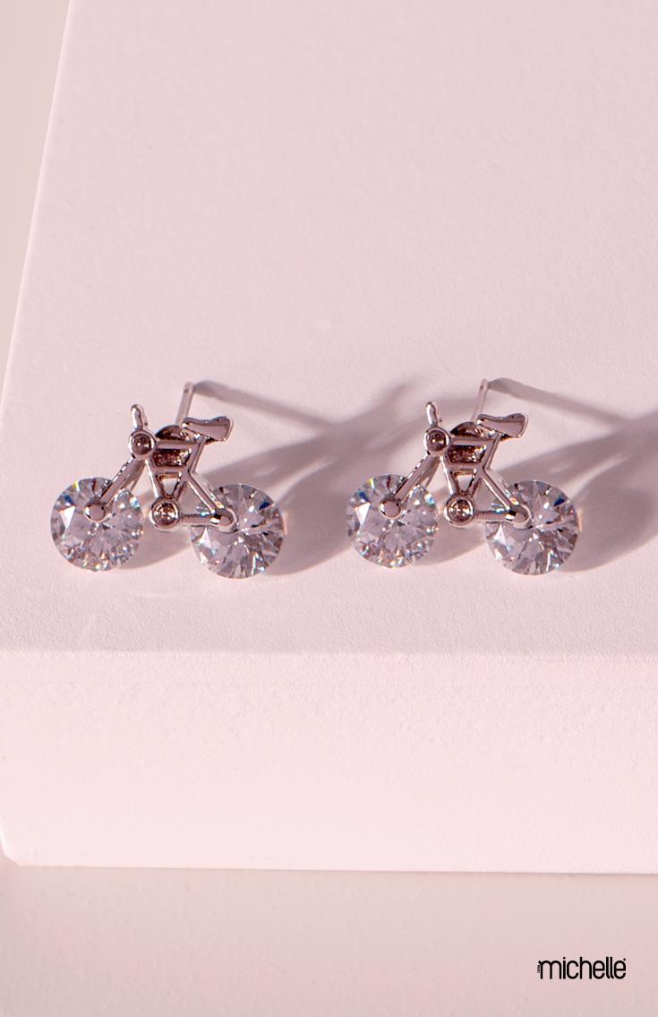 De Regalo Nuevo En Caja De 12 Mm Diamante Cristal Aretes Zarcillos Boda Novia Prom Bling