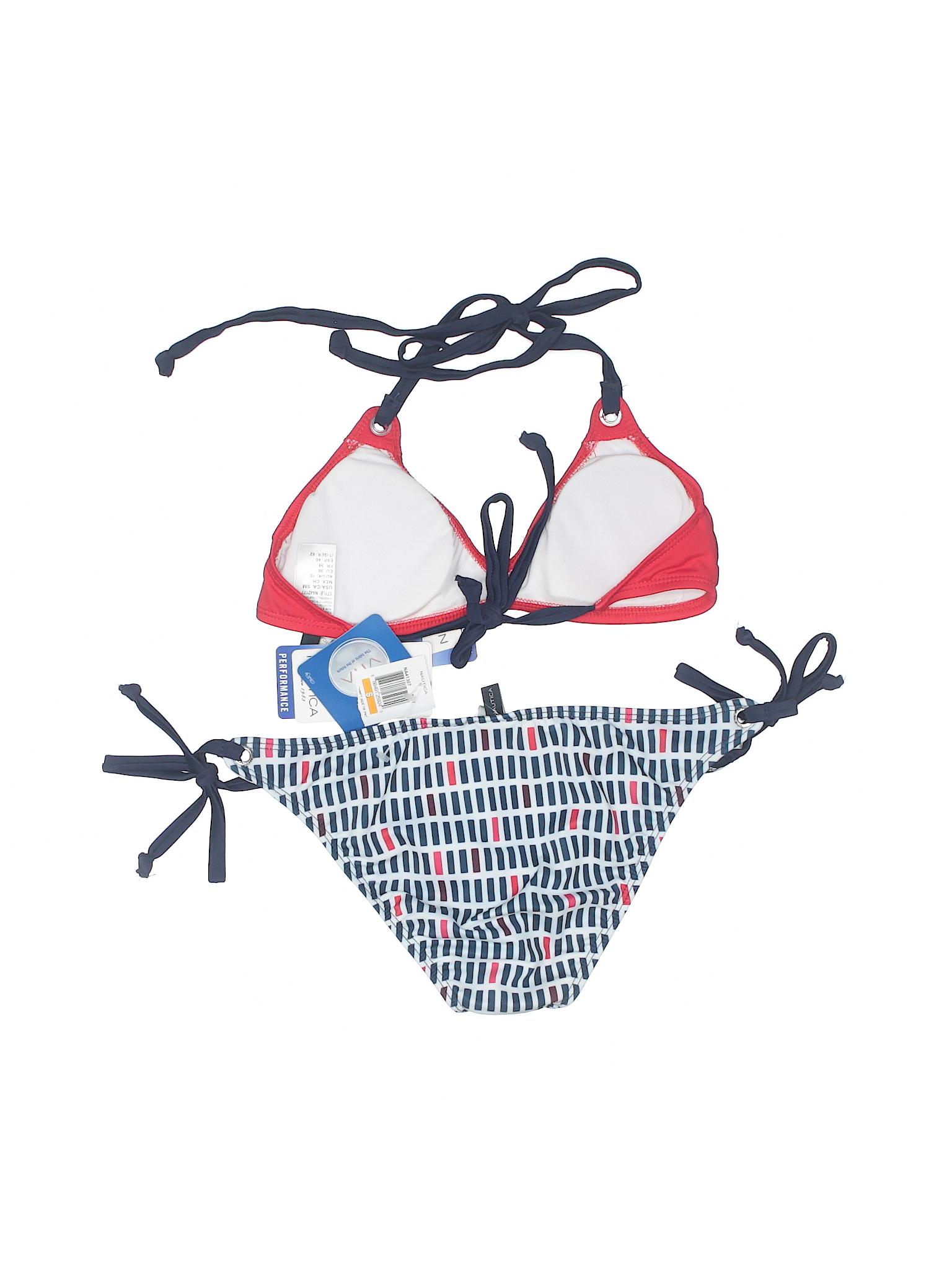 50530daeb50 Nautica Two Piece Swimsuit: Size 4.00 Red Women's Swimwear - New ...