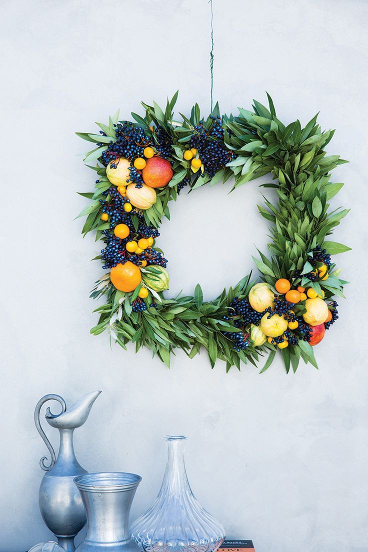 DIY Citrus Wreath Diy wreath, Wreaths, Decor