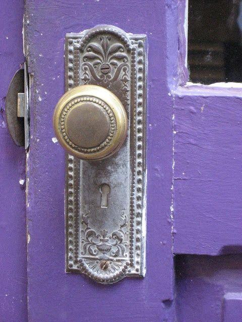 Doorknob | antiques and nice interior | Purple | Pinterest ...