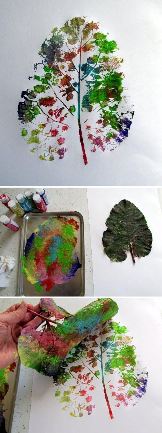 Herbst mit Kindern ... bunte Blätter sammeln, basteln, Herbstlieder singen, spielen #herbstfensterdekokinder