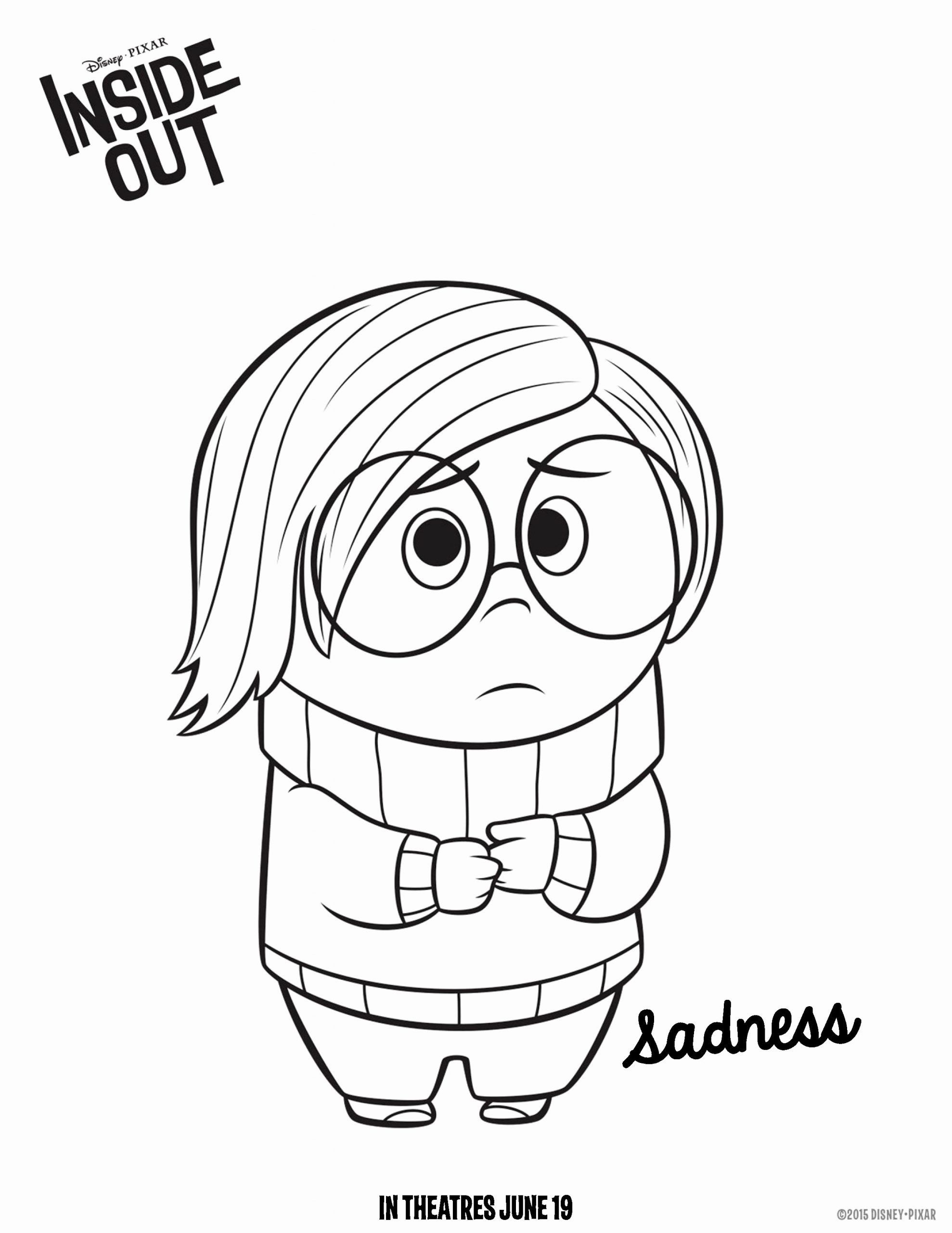 Inside Out Coloring Page Beautiful Inside Out Sadness Coloring Pages Inside Out Coloring Pages Coloring Pages Coloring Pages For Kids