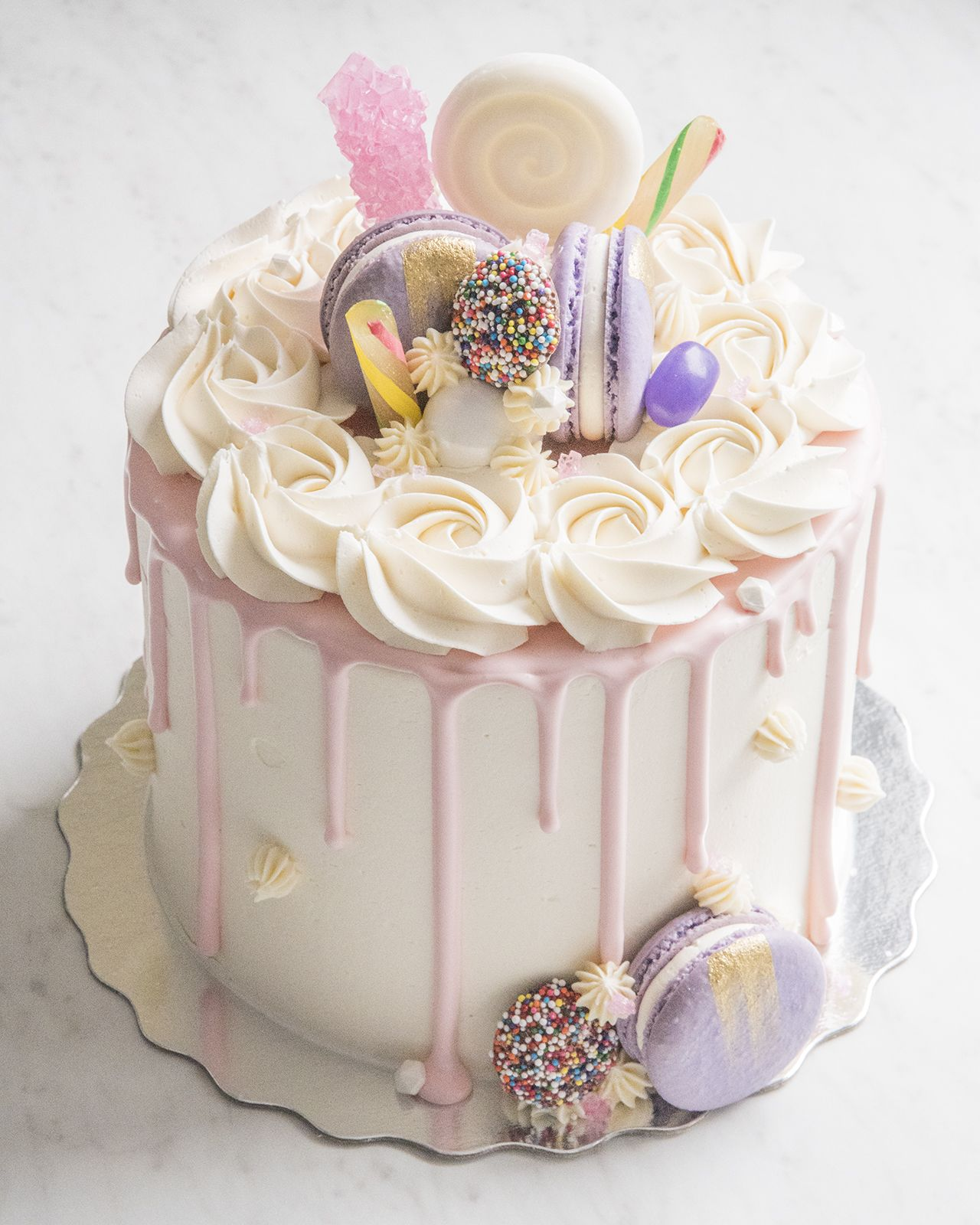 Image result for birthday cake with macarons on top Cake