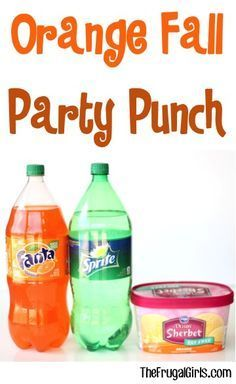 Orange Fall Party Punch Recipe! {3 Ingredients} - The Frugal Girls