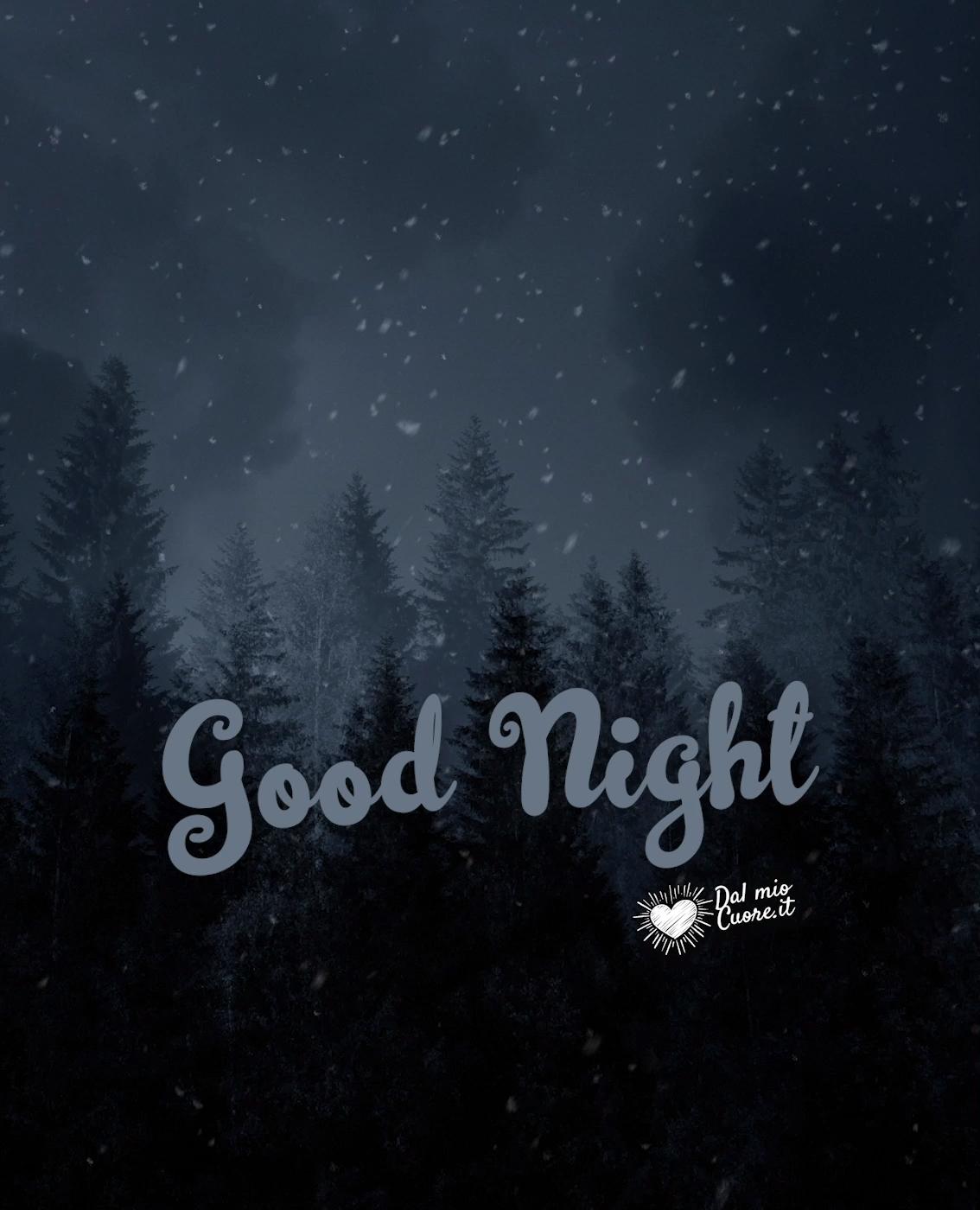 Good Night Video With Falling Snow In 2021 Good Night Night Good Night Image