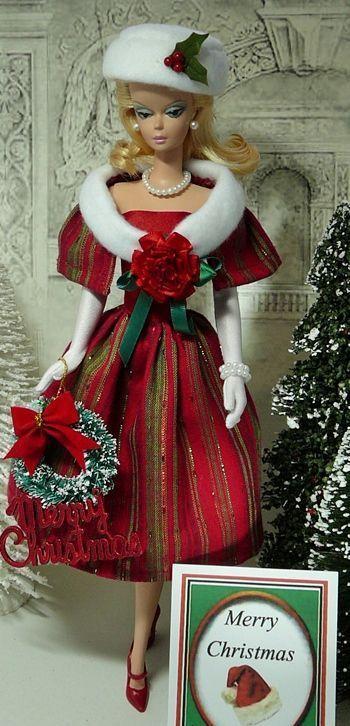 Christmas Barbie 2019 Vintage Christmas Barbie   Bella Barbies! in 2019   Christmas