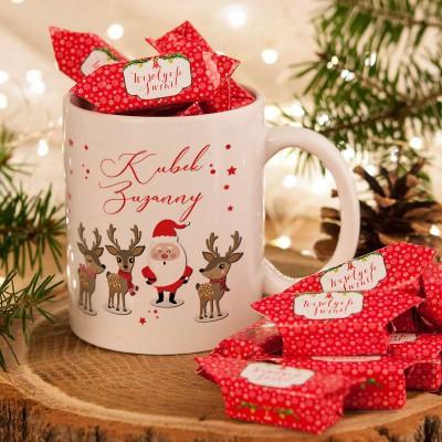 Kubek Na Prezent Swiateczny Dla Dziecka Z Krowkami Christmas Ornaments Novelty Christmas Holiday Decor
