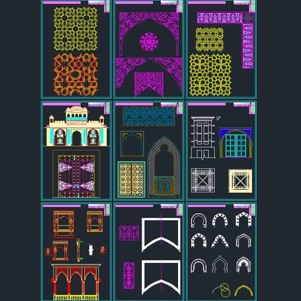 AutoCad collection of Islamic decoration pieces | Idea