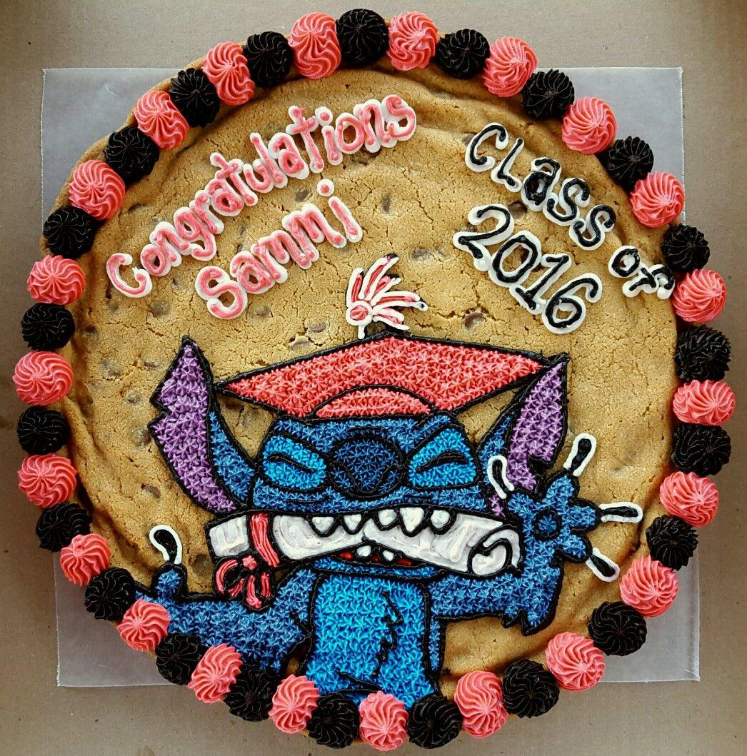 Stitch cookie cake. Graduation cookie cake. 200th cookie ...