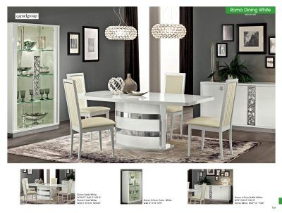 Dining Room Furniture Modern Sets Roma White Camelgroup