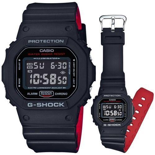 2d9323ce447e8 Casio G-Shock DW5600HR-1 Black X Red Heritage Color Wristwatch RARE ...