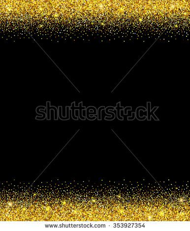 Gold glitter background gold sparkle border template for holiday gold glitter background gold sparkle border template for holiday designs invitation party birthday wedding vector illustration stopboris Images