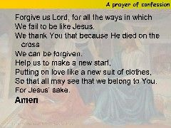 Catholic Teaching: This is one of the prayer's that we say in ...
