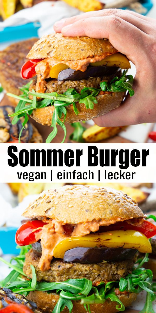 Veganer Burger mit Grillgemüse