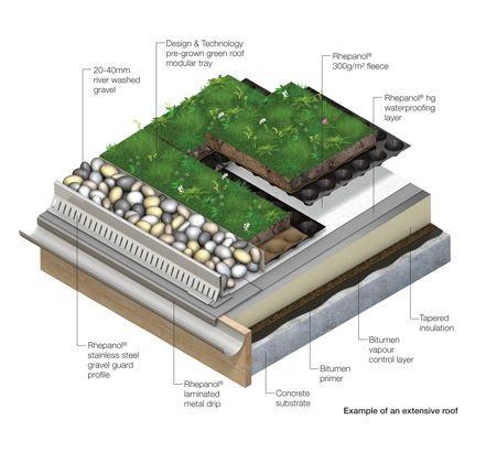 Rhepanol A Natural Choice For Green Roof Of Award Winning Dartmoor Idyll Green Roof Green Roof Design Green Roof System