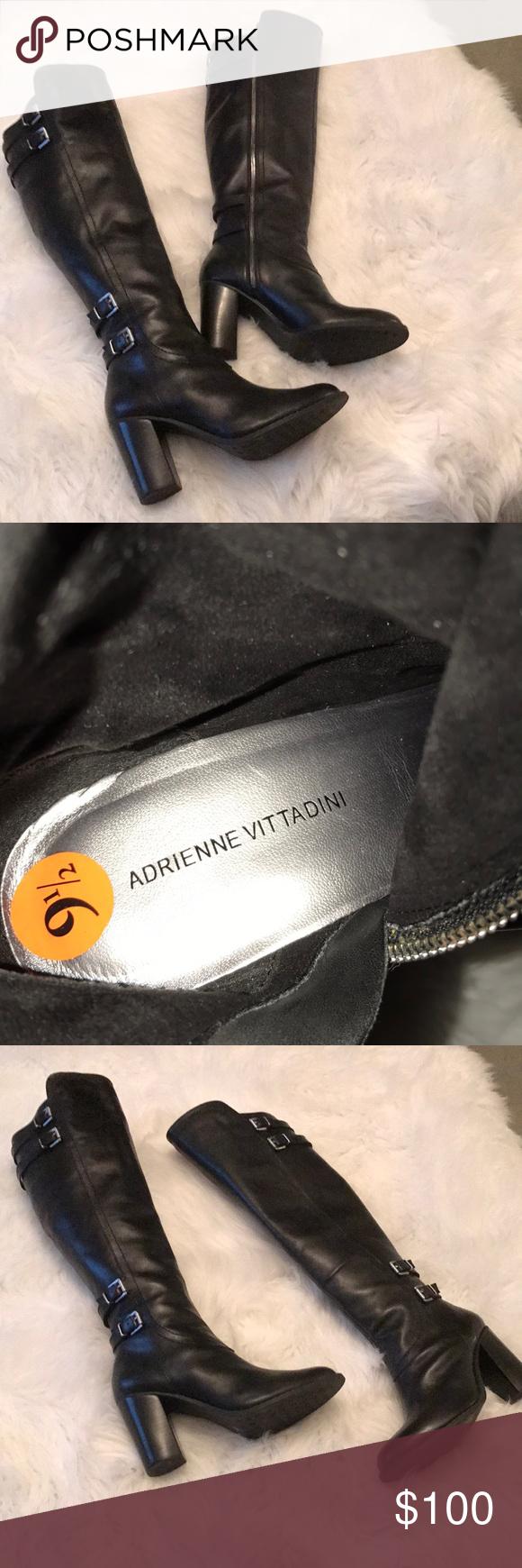 ea56eb14c3b Black Boots Adrienne Vittadini. Leather Boots Black Leather Over the Knee  Boots.. Adrienne Vittadini.. Were Worn once.. Adrienne Vittadini Shoes Over  the ...