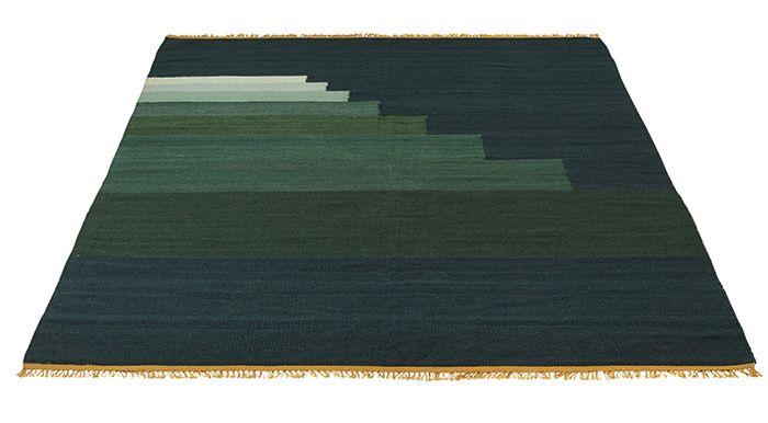 une deco vert emeraude tapis vert
