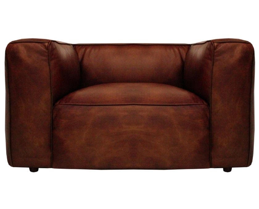 Tribeca 1 Seater Antique Whisky Hand Aged Leather Furniture