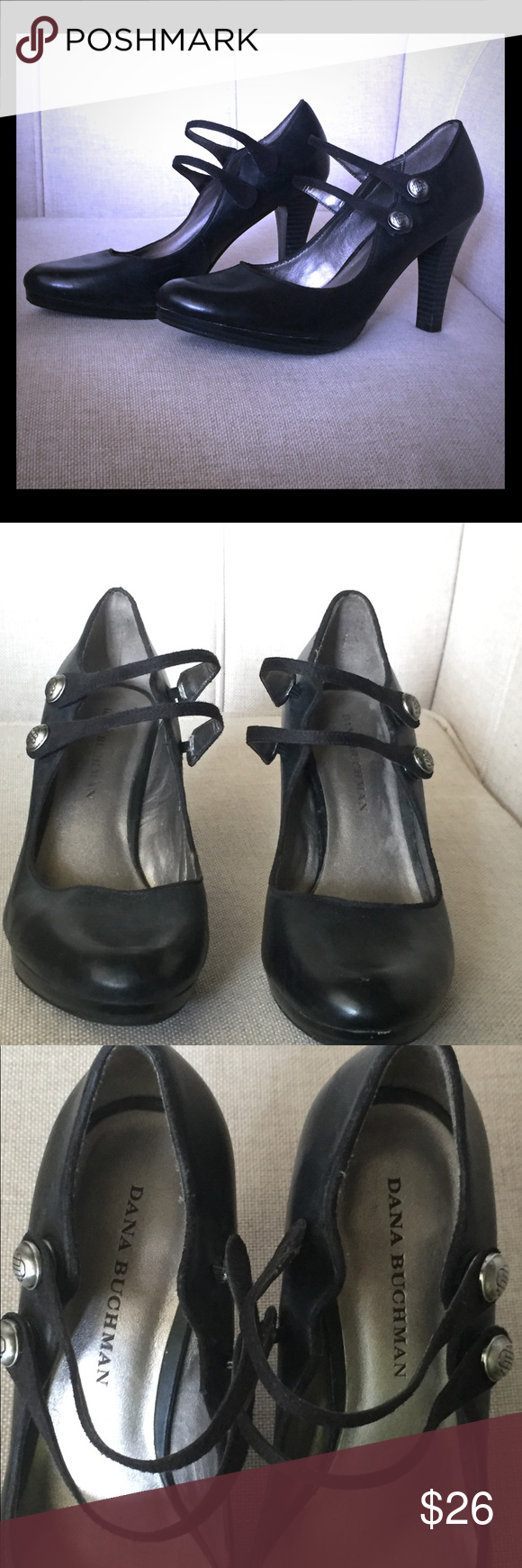 8e1a9a0f9909ca Dana Buchman Black Booties! Button Closure Black leather Booties. Super  comfortable! Amazing button