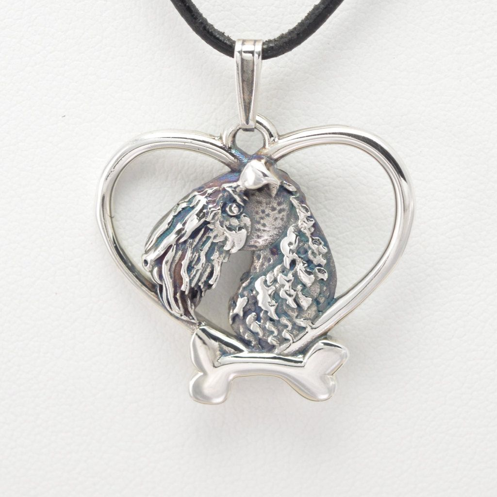 Donna Pizarro Designs Sterling Silver And Sapphire Kerry Blue Terrier Pin Necklace xwU4SXQtk