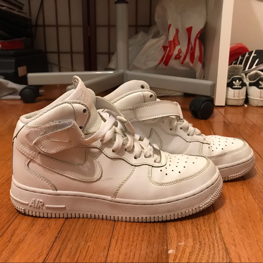 Nike Shoes | Nike Air Force 1s High | Color: White | Size: 8.5