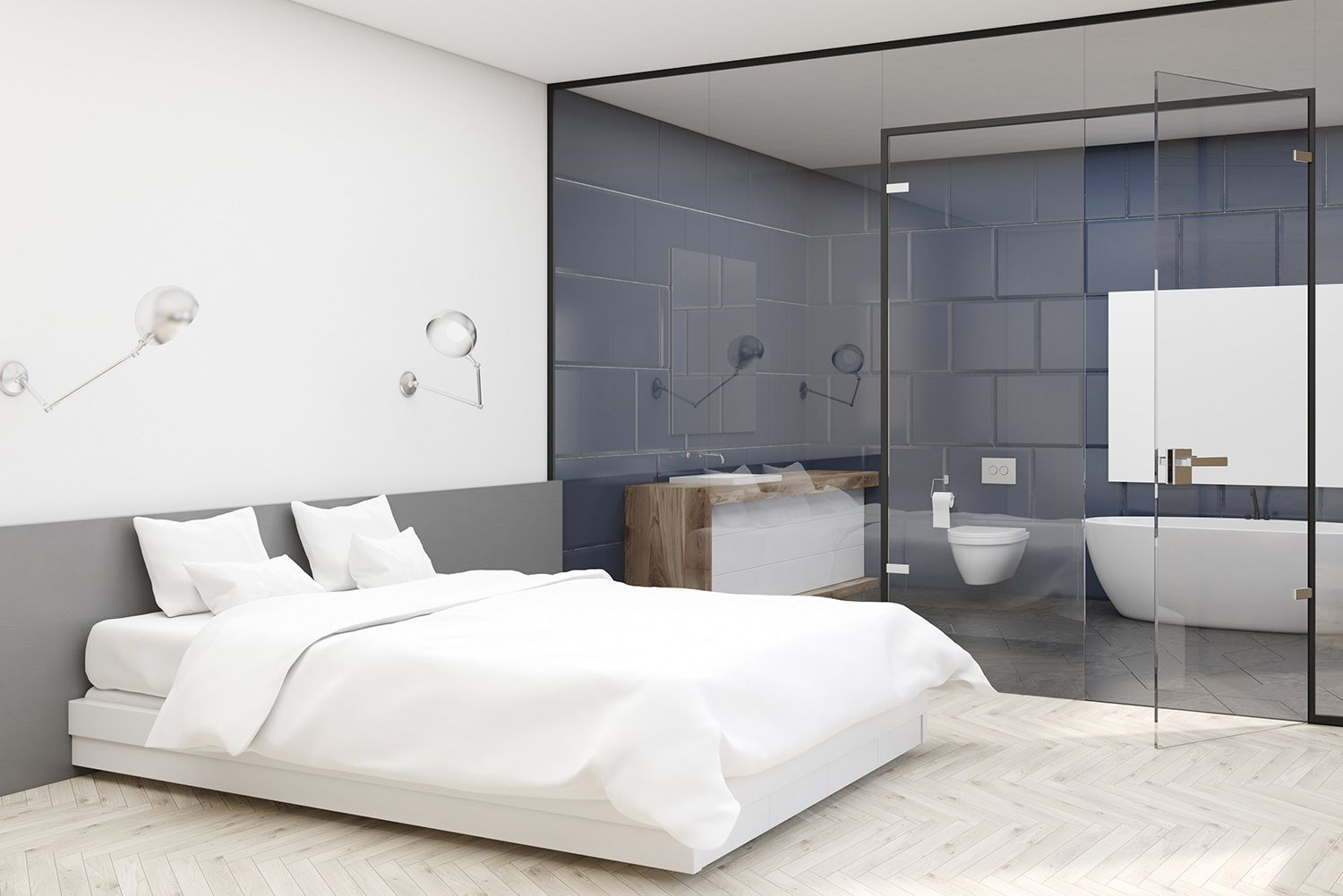 Bedroom EnSuite Partition Glass partition wall, Walls