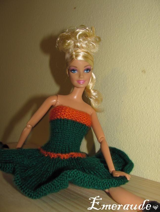 Tricot: Robe d\'été n°3 pour Barbie   Barbie   Pinterest
