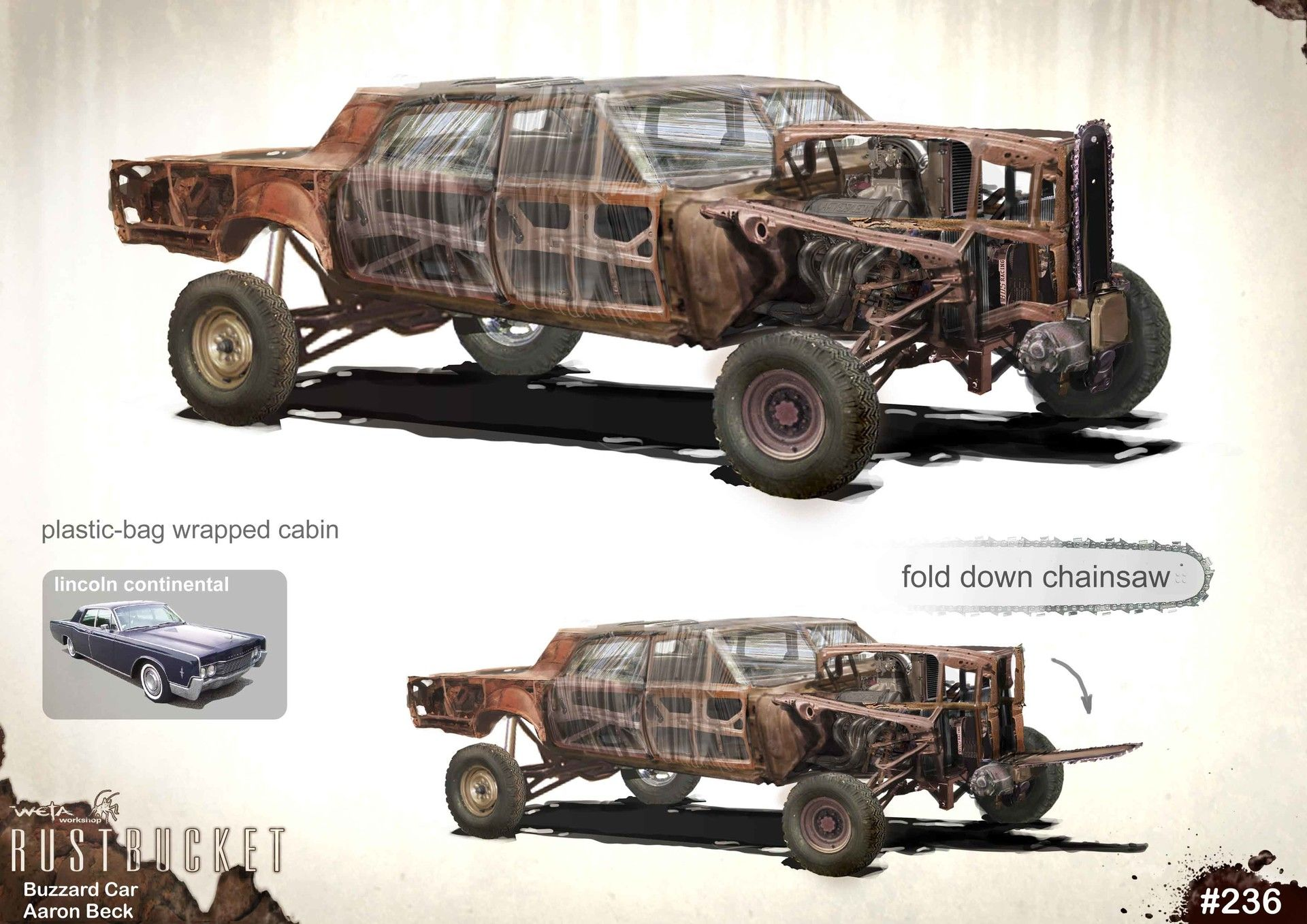 artstation mad max fury road misc vehicles 02, weta workshop Mad Max Interceptor Ford Falcon