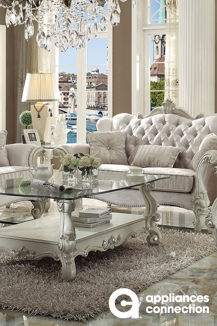 Romantic Style Living Rooms: Romantic Designed Living Room Set Perfect To Upgrade Any
