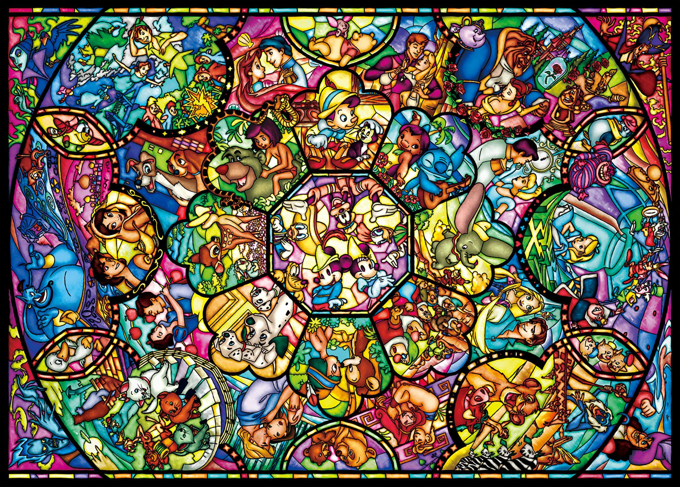 Disney Princess Stained Glass Window Mash up Window iphone case
