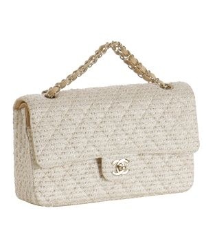 2.55 Classic Flap Bag in White Tweed
