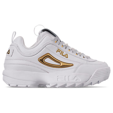 fila women's disruptor ii metallic casual athletic