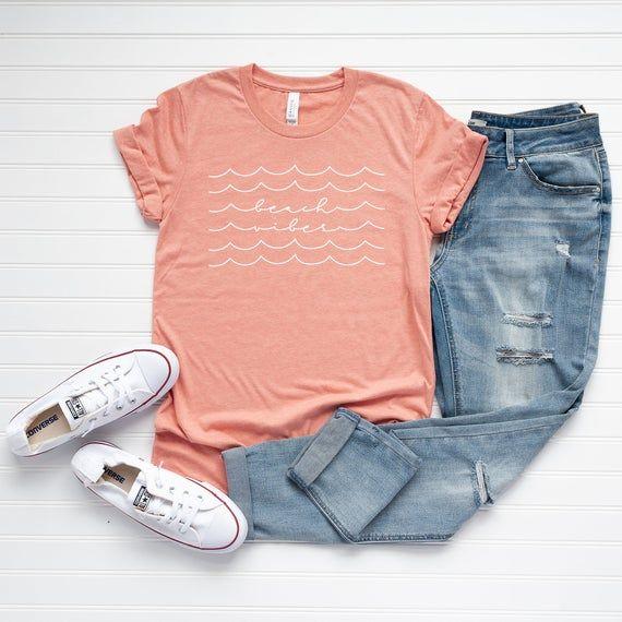 Beach Vibes Tee | Beach Shirt | Summer Tee | Vacation Tee | Beach Life Shirt | Cute Summer Graphic Tee