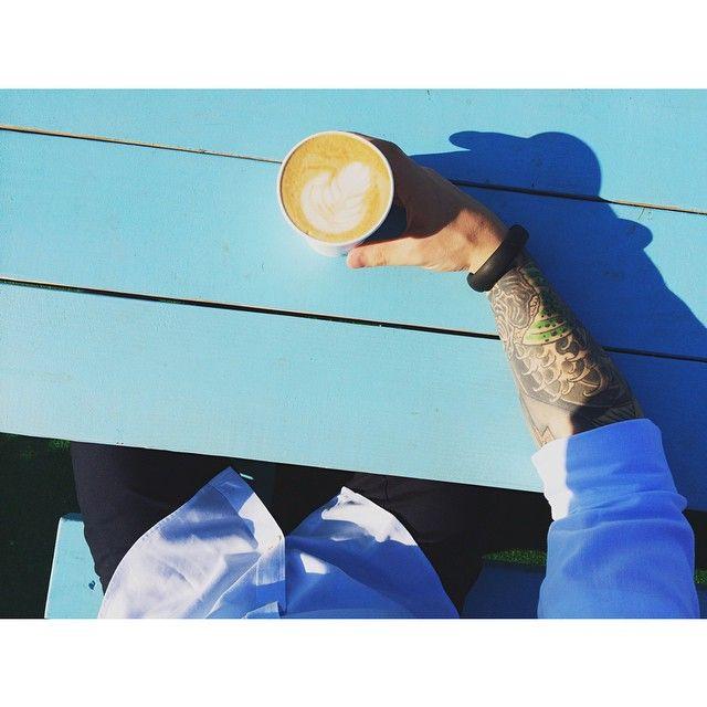 Early morning latte #hughandcrye menswear