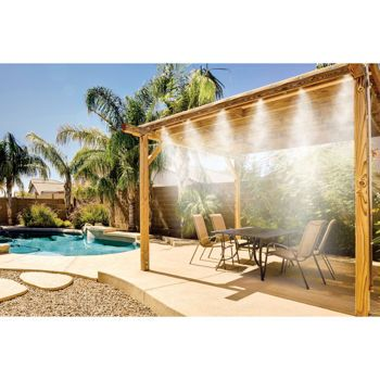 Costco Misty Mate Cool Patio Deluxe Outdoor Misting Kit Brass