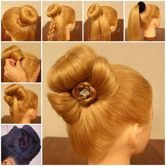 Simple Diy Hairstyles Everyday: DIY Braided Bow Bun Hairstyle (Video)