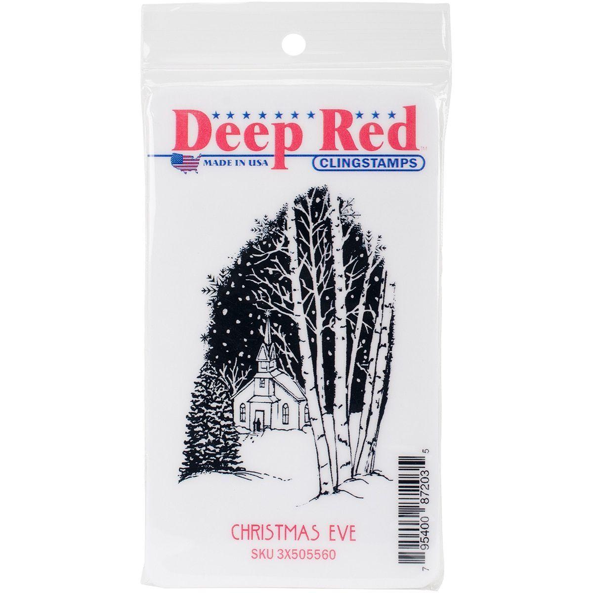 Deep Cling Stamp 3X2-Christmas Eve